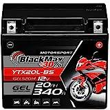 BlackMax YTX20L-BS Motorradbatterie GEL 12V 20Ah GTX20L-BS CTX20L-BS Outlander
