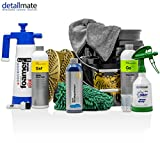 Detailmate 2 Eimer Waschen - 2 Grit Guard Wascheimer - 2 Grit - Koch Chemie: NanoMagic Autoshampoo, Gentle Snow Foam, Green Star - Kwazar: Alkaline Foamer & Sprühflasche - Waschhandschuh - Trockentuch
