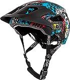 O'Neal Defender 2.0 Wild Fahrrad Helm All Mountain Bike Enduro MTB Magnet Verschluss, 0502-88, Schwarz, 54-58