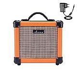 AsmuseGitarrenverstärker Mini 10W Electric Guitar Amplifier Portable Combo Amp mit Verzerrungseffekt 5 Zoll Eingebauter Lautsprecher