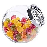 MamboCat Vorratsdose Pandora aus Glas mit Deckel Silber-glänzend 2L | Nudelglas | Cerealien-Box | Snacks & Gebäck | Bonboniere