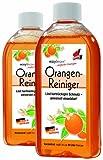 EASYmaxx Orangenreiniger 3tlg. | Löst hartnäckigen Schmutz | Universell einsetzbar auf Holz, Textilien, Keramik, Ceranfeldern | Biologisch abbaubar [2 x 500 ml ]
