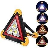 ALLOMN Tragbares LED Arbeitslicht, Notfall Taschenlampe LED Warnleuchte Dreieck COB Wiederaufladbar Tragbar Reparatur von Autos Flutlicht 30 W