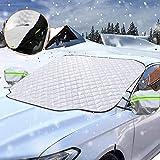 Sporgo Frontscheibenabdeckung Auto Scheibenabdeckung Magnet Faltbare Frostabdeckung Mit Zwei Spiegelabdeckungen,Frontscheibe Abdeckung Winter Windschutzscheibe Abdeckung für Gegen Schnee,Staub,Sonne