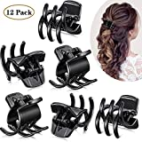 12 Pieces Hair Claw Clips Medium Size Hair Claws Hair Styling Accessories in 1.3 Inches for Women Girls