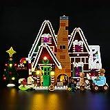 ZHLY LED Licht-Set für Lego Lebkuchenhaus Beleuchtung Lichtset Kompatibel Mit Lego 10267 USB und Batterie Betrieben (Lego-Modell Nicht enthalten)