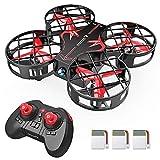 SNAPTAIN Mini Drohne H823H mit 3 Akkus für 21 Minuten Flugzeit, RC Drone, Quadrocopter Mini Helikopter mit Höhehalten, Kopfloser Modus, 3D Flips und 3 Geschwindigkeitsmodi für Anfänger Kinder