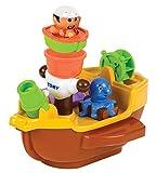 TOMY Spielzeug Schiff 'Piratenschiff' Mehrfarbig, Hochwertiges Kleinkindspielzeug, Piratenschiff Spielzeug für die Badewanne, Boot Badewanne, Boot Spielzeug, Badewannenspielzeug, Ab 18 Monaten