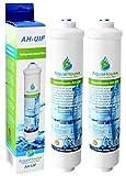 2x AquaHouse AH-UIF Kompatibel Universal Kühlschrank Wasserfilter passt für Samsung LG Daewoo Rangemaster Beko Haier usw. Kühlschrank Gefrierschrank
