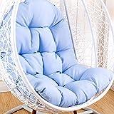 DLPY Hängende Sitzkissen, Wiege Papasansessel Swing Sitzkissen Nicht-Slip Korb Wicker Stuhl Kissen Erwachsene Schaukeln Indoor Balkon Pad Ohne Standfuß -blau