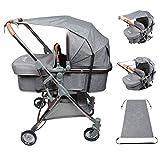 Sonnensegel für Kinderwagen Babywanne TBoonor flexibler Baby Sonnenschutz Kinderwagen mit UV Schutz 50+ Universal Staubdicht/Winddicht Sonnendach für Kinderwagen und Buggy