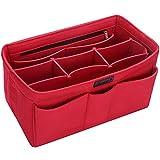 Ropch Handtaschen Organizer Filz Innentasche Taschenorganizer Kosmetikorganizer für Frauen, Rot - M