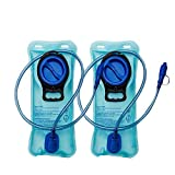 CHBOP Trinkblase Trinkbeutel Wasserblase Trinkrucksack Wasserbeutel Wasserbehälter Sport für Rucksack mit Schlauch BPA-FREI 2 Liter zum Wandern Radfahren Klettern Outdoor-Aktivität 2 Stück