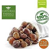 NaturalThings. Organische und natürliche Wäsche- und Spülseife Nüsse/Beeren. Fair Trade, nachhaltig & Green Laundry (250 Wäschen). Premium-Klasse + Wäsche Beutel
