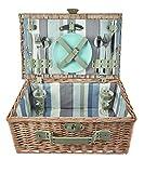 The Summer Living Edinburgh Picknickkorb, gestreift, Blau/Beige