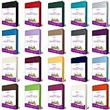 EllaTex FROTTEE Spannbettlaken 90 x 200-100 x 200 cm, in Farbe: Schwarz