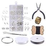 heacker Ohrringe DIY-Material Set Schmuckherstellung Zubehör Zangen Pinzetten Draht Handmade Zubehör-Kit
