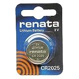 Renata CR2025 3V Lithium Knopfzelle Uhrenbatterie DL2025, ECR 2025, BR 2025 (5 x CR 2025)