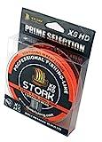 Stork HDx8, 8-Fach geflochtene premium Angelschnur 300m (Orange, 40 lbs / 18.1 kg / 0.28 mm)