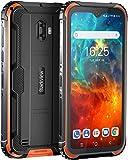 Blackview BV5900 Outdoor Smartphone 5580mAh Akku, 5,7 Zoll IP69K Stoßfest Smartphone mit 13MP + 5MP Kamera, 4G Dual SIM 3GB RAM+32GB Speicher, Android 9.0, WLAN 5G, NFC Face ID GPS (Orange)