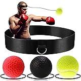 Reflex Boxball - Victoper Reflexball 3 Schwierigkeitsgrad Boxball mit Stirnband, Anzug für Reaktion, Beweglichkeit, Schlaggeschwindigkeit, Kampffähigkeit und Hand-Augen-Koordinationstraining
