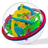 iNeego 3D Labyrinth Ball 12cm 3D Intellekt Ball mit 100 herausfordernde Barrieren 3D Labyrinth Ball für Kinder 3D Puzzle Spielzeug Magische Maze Ball Gehirn Teaser Puzzle Spiel 12cm