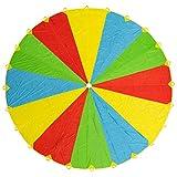 20ft/6m Schwungtuch Fallschirm Spielzeug - Regenbogen Parachute 24 Griffen Gymnastik Geschicklichkeit Turnen - Stunden Des Spaßes, Der Unterhaltung Für Kinder Kleinkinder - Beliebt Bei Party Gruppen