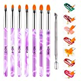 Pinselset 7-teilig für Nailart, Set für UV Gel,Acryl, Onestroke, 1er Pack, für Nailart, (1 x 7 Stück) Präzises professionelles Salonwerkzeug