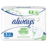 Always Cotton Protection Ultra Damenbinden mit Flügeln, Größe 3, 9 Stück