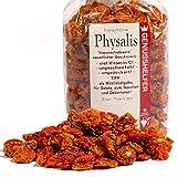 Physalis Trockenfrüchte, 150g, schön Sauer und Vitaminhaltig, zum Naschen, ohne Schwefel, ohne Zuckerzusatz - Bremer Gewürzhandel