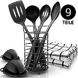 KRONENKRAFT  [9 Teile - Küchenset hochwertig verarbeitet - Küchenutensilien Set - Kochset - Alles was Man braucht!