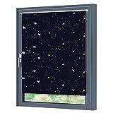 Julido Verdunkelungsrollo mit Silberbeschichtung klemmfix Thermorollo Seitenzugrollo Rollo ohne Bohren für Fenster 50x150cm Sterne