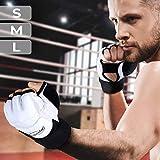 Physionics MMA Handschuhe - Größenwahl (S/M/L), Schweiß-Absorber am Daumen - Handschutz, Punchinghandschuhe, Boxen, Kampfsport, MMA, Taekwondo, Freefight, Sparring, Training, Fitness, Sport, UFC