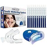 Teeth Whitening Kit,Zahnbleaching Gel,Zahnaufhellung Set - Gegen Gelbe Zähne,Rauchflecken,Schwarze Zähne home bleaching für weiße Zähne