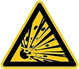 LEMAX Aufkleber Warnung vor explosionsgefährlichen Stoffen ähnlich ISO 7010 ISO-W002 100mm