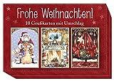 Frohe Weihnachten!: 10 Grußkarten mit Umschlag