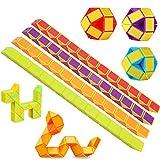 Lukiny 12 Packung 24 Blöcke Mini Schlange Würfel, Magische Geschwindigkeit Würfel, Mini Puzzle Würfel Spielzeug für Kinder Party Tasche Füllstoff Party Favors Party Supplies Zufällige Farbe (12pcs-B)