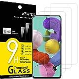NEW'C 3 Stück, Schutzfolie Kompatibel mit Samsung Galaxy A51 panzerglasfolie, Frei von Kratzern, 9H Härte, HD Displayschutzfolie, 0.33mm Ultra-klar, Displayschutzfolie