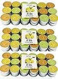 108 Zitronella Duftlichte Teelichter , farbig gemischt , Aromatischer Zitronen Duft , Anti Mücken Kerzen , Duftkerzen , Outdoor Kerzen , Mückenabwehr , hillfield