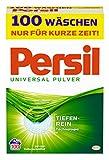 Persil Universal Pulver, Vollwaschmittel, 100 Waschladungen, kraftvolle Fleckenentfernung für hygienisch reine Wäsche