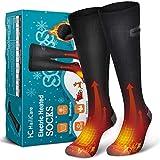 HailiCare Beheizte Socken, Elektrische Warme Socken, wiederaufladbare 3,7 V 4000 mAh Batterie Thermische Winter warme Baumwollsocken, Fußwärmer Socken mit 3 Heizeinstellungen für Männer Frauen
