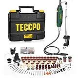 Multifunktionswerkzeug, TECCPO 200W Drehwerkzeug mit Teleskoparm und Tischklemme, mit 120 Zubehör, Mini-Bohrer mit 5+Max Variablen Drehzahlen, Ideal für Vatertagsgeschenke -TART13P