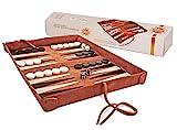 Sondergut Reise Backgammon Deluxe - Echt-Leder-Spiel zum Rollen