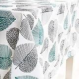 X-Labor Abwaschbar Tischdecke Eckig Wasserdicht Oxford Stoff Tischtuch Tischwäsche Pflegeleicht Garten Zimmer Tischdekoration Mint 140 * 220cm