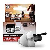 Alpine MotoSafe Tour Gehörschutz Ohrstöpsel Touringstöpsel - Verhindern Gehörschäden vom Motorradfahren - Verkehr noch hörbar - Bequemes hypoallergenes Material - wiederverwendbar
