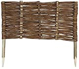 Mcsammler Weide Beeteinfassung in 16 Größen Weidenzaun Rasenkante Beetbegrenzung Steckzaun imprägniert mit Buchepflöcken für leichtes Einsetzen Länge: 60 cm Höhe: 30 cm