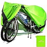ODSPTER Fahrradabdeckung für 2 fahrräder wasserdichte 210D Oxford-Gewebe Atmungsaktives Draussen Fahrrad Schutzhülle mit Schlossösen Schutz, für Mountainbike und Rennrad 29 Zoll (Grün)