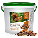 wildtier herz | Eichhörnchenfutter 2 kg für Eichhörnchen und Streifenhörnchen – Futtermischung in Premium-Qualität, artgerecht & ganzjährig füttern