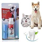 SEGMINISMART Hundezahnbürste,Zahnpflege für Hunde,Zahnpflege-Set,Zahnsteinentferner Ergänzung gegen Mundgeruch bei Hunden, Natürliche und Wirksame Reinigung für Zähne & Zahnfleisch