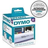 Dymo LW-Etiketten für große Adressen, selbstklebend, für LabelWriter, Originaletiketten, 2 Rollen mit 260 Etiketten, leicht abziehbar, 36 mm x 89 mm